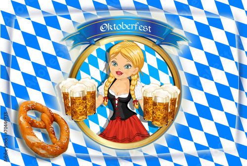 canvas print picture Hintergründezum Oktoberfest
