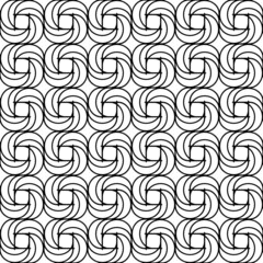 Black and white seamless pattern with spiral line