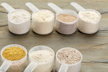 scoops of gluten free flour
