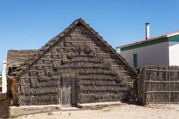 Sardegna, capanna in falasco a San Giovanni Sinis