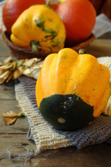 Осенние овощи, патисоны