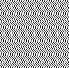 Black and white ripple stripe seamless pattern