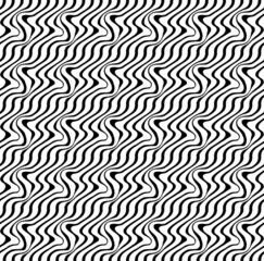 Black and white ripple stripe seamless pattern