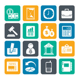 Silhouette Business, Office and Finance Icons