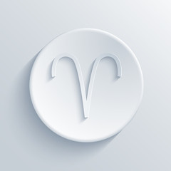 vector modern signs of the zodiac. Circle icon