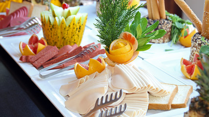 Buffet Catering Food Arrangement on Table