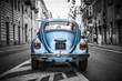 Old blue car - 70449502