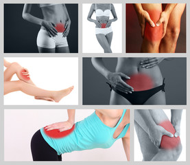 Body pain collage