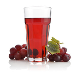 Glass of grape juice