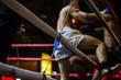 Leinwanddruck Bild - thai boxing