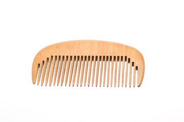 wooden comb on a white background