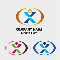People symbol Success creative concept icon