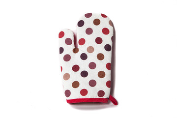 oven gloves in color polka dot