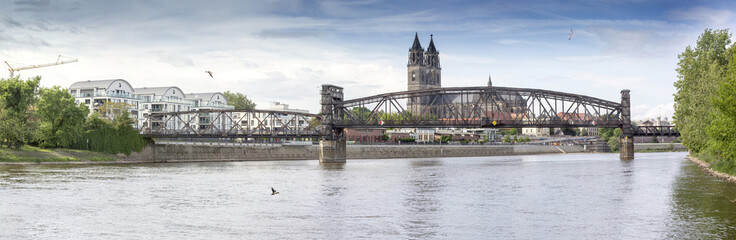 Magdeburg - DOM -  Elbpanorama 09151