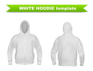 White hoodie template