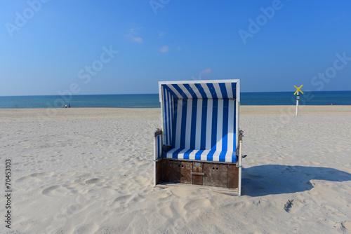 Leinwanddruck Bild Strand in Sylt