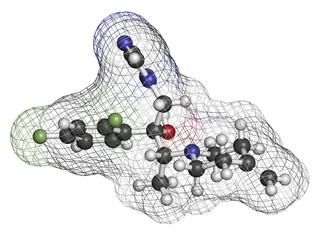 Efinaconazole antifungal drug molecule.