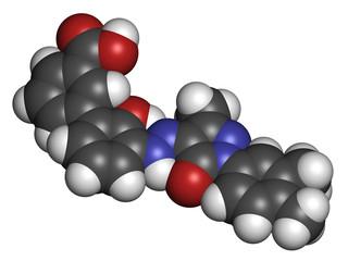 Eltrombopag thrombocytopenia (low blood platelet count) drug.