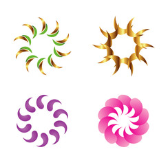 Beautiful swirl design elements, sign set
