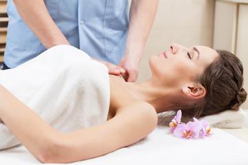 Arm massage in spa