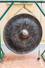 Big gong in temple Thailand