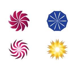 Circular Icon Symbol Logo Element set vector