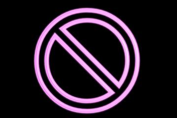 Pink Neon No Sign