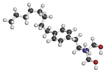 Fingolimod multiple sclerosis (MS) drug molecule.
