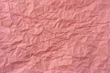 texture of wrinkled pink paper