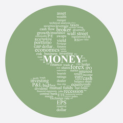 Money and Investing concept illustration