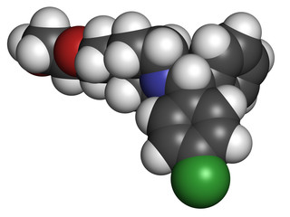 Hydroxyzine antihistamine drug.