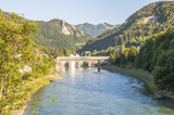 Hydroelectric power station in the river Enns in Upper Austria