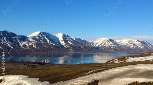 canvas print picture Spitzbergen im Nordmeer