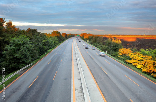 canvas print picture Highway transportation