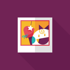 newborn photo flat icon with long shadow,eps10