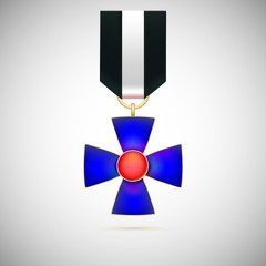 Blue Cross, illustration of a military medal