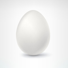 Egg, isolated on white background