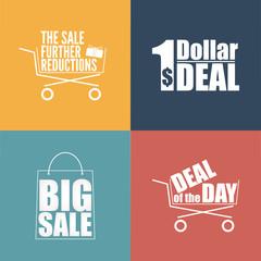 Flat design sale discount background