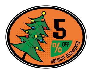 Sale discount sign, vector illustration