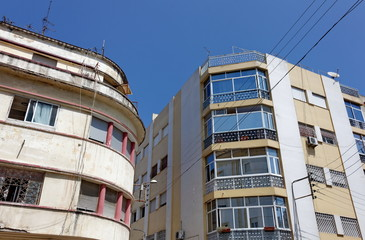 Immeubles en coin de rue, Maroc