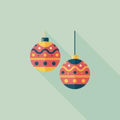 christmas ball flat icon with long shadow,eps10