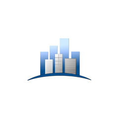 Skyscrapers- logo for real estate or construction business