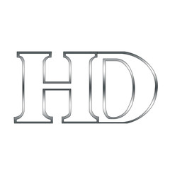Logo with alphabet H and D