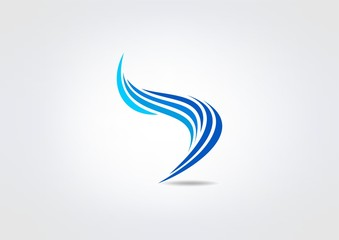 swirl business logo, abstract letter s icon
