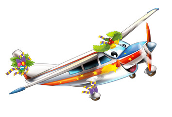 Cartoon plane - illustration for the children