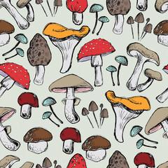 Mushooms Seamless pattern
