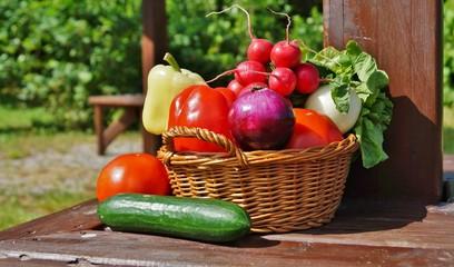Vegetables in the basket - healthy food