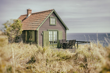 Rustic seaside cottage