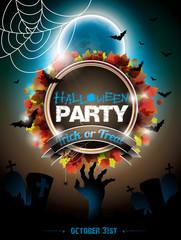 Vector illustration on a Halloween Zombie theme