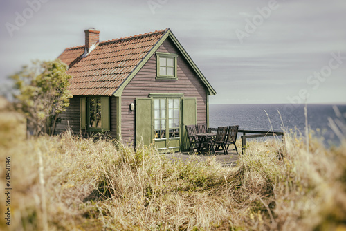 Foto op Aluminium Scandinavië Rustic seaside cottage